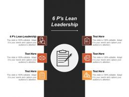 6ps Lean Leadership Ppt Powerpoint Presentation Gallery Slide Portrait Cpb