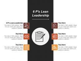 6ps Lean Leadership Ppt Powerpoint Presentation Gallery Slide Portrait Cpb