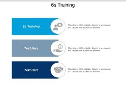 6s Training Ppt Powerpoint Presentation Pictures Samples Cpb