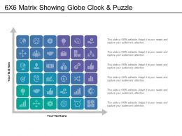 6x6 Matrix Showing Globe Clock And Puzzle