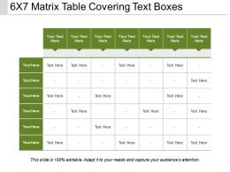 6x7 Matrix Table Covering Text Boxes