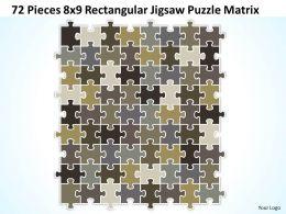 72 Pieces 8x9 Rectangular Jigsaw Puzzle Matrix Powerpoint templates 0812