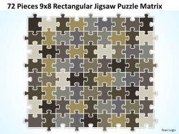 72_pieces_9x8_rectangular_jigsaw_puzzle_matrix_powerpoint_templates_0812_Slide01