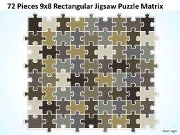 72 Pieces 9x8 Rectangular Jigsaw Puzzle Matrix Powerpoint templates 0812