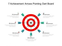 7 Achievement Arrows Pointing Dart Board