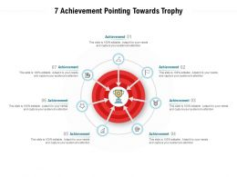 7 Achievement Pointing Towards Trophy