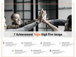 7 Achievement Team High Five Image