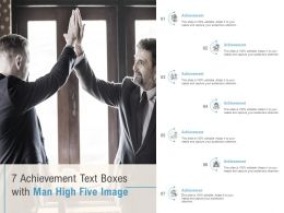 7 Achievement Text Boxes With Man High Five Image