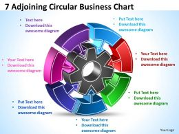 7 Adjoining Circular Business Chart Powerpoint Templates ppt presentation slides 812