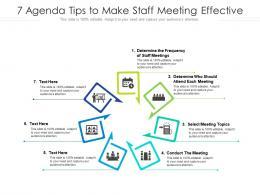 7 Agenda Tips To Make Staff Meeting Effective