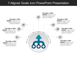 7 Aligned Goals Icon Powerpoint Presentation