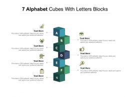 7 Alphabet Cubes With Letters Blocks
