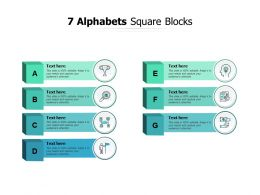 7 Alphabets Square Blocks