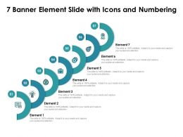 7 Banner Element Slide With Icons And Numbering