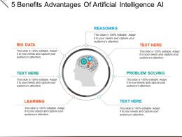 7 Benefits Advantages Of Artificial Intelligence Ai Powerpoint Slide