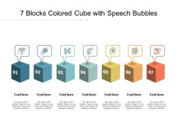 7 Blocks Colored Cube With Speech Bubbles