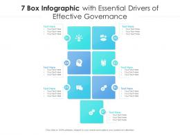 7 Box Infographic With Essential Drivers Of Effective Governance