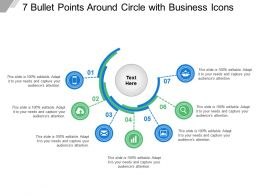 7 Bullet Points Around Circle With Business Icons