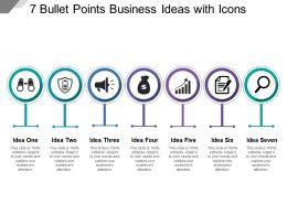7 Bullet Points Business Ideas With Icons