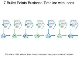 7 Bullet Points Business Timeline With Icons