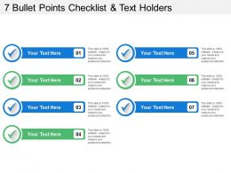7 Bullet Points Checklist And Text Holders