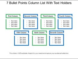 7 Bullet Points Column List With Text Holders