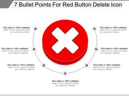 7 Bullet Points For Red Button Delete Icon
