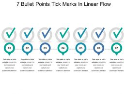 7 Bullet Points Tick Marks In Linear Flow