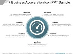 7 Business Acceleration Icon Ppt Sample