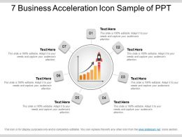 7 Business Acceleration Icon Sample Of Ppt