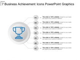 7 Business Achievement Icons Powerpoint Graphics