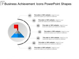 7 Business Achievement Icons Powerpoint Shapes