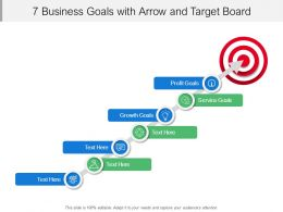 7_business_goals_with_arrow_and_target_board_Slide01