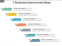 7 Business Improvement Ideas Powerpoint Slide Clipart
