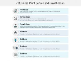 7 Business Profit Service And Growth Goals