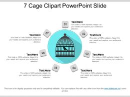 7 Cage Clipart Powerpoint Slide
