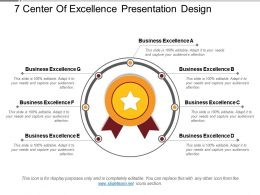 7 Center Of Excellence Presentation Design