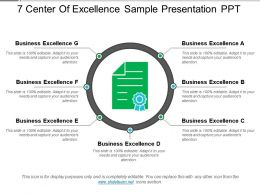 7 Center Of Excellence Sample Presentation Ppt