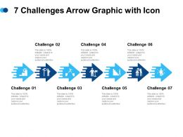7 Challenges Arrow Graphic With Icon