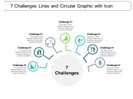 7 Challenges Lines And Circular Graphic With Icon