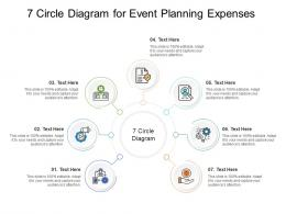 7 Circle Diagram For Event Planning Expenses Infographic Template