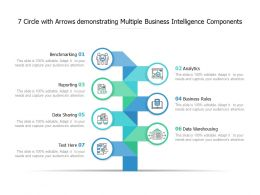 7 Circle With Arrows Demonstrating Multiple Business Intelligence Components