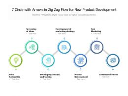 7 Circle With Arrows In Zig Zag Flow For New Product Development