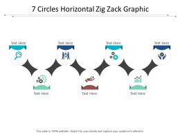 7 Circles Horizontal Zig Zack Graphic