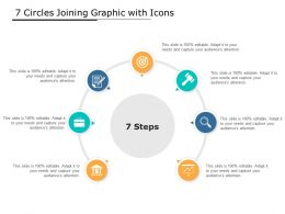 7 Circles Joining Graphic With Icons