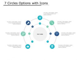 7 Circles Options With Icons
