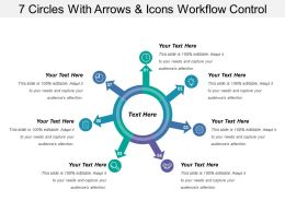 7 Circles With Arrows And Icons Workflow Control