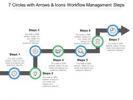 7 Circles With Arrows And Icons Workflow Management Steps