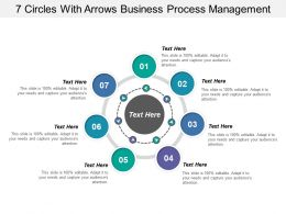 7 Circles With Arrows Business Process Management