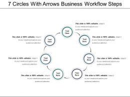 7 Circles With Arrows Business Workflow Steps